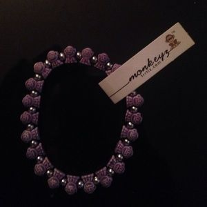 Purple monkeyz bracelet