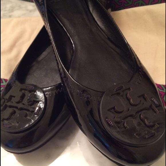 beef5acb2244d1 Tory burch reva black patent leather flats. M 55723ac044adba43f100030b