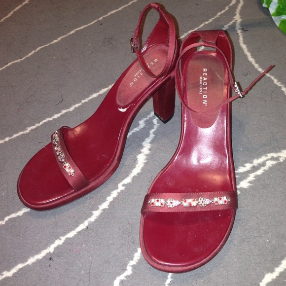 Kenneth Cole Reaction Shoes Red Women S Strap Heel