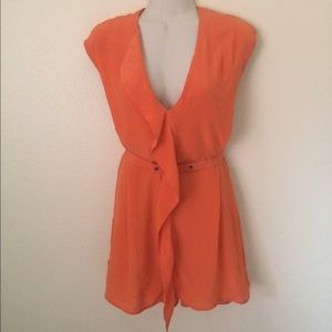 French Connection Orange Silk Blouse, size 12