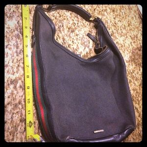 Authentic  Gucci hobo with classic web sale