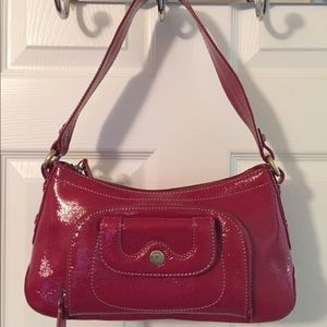 Perlina Handbags - 🛍 Perlina Red Patent Leather Shoulder Bag