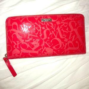Kate Spade red alphabet wallet