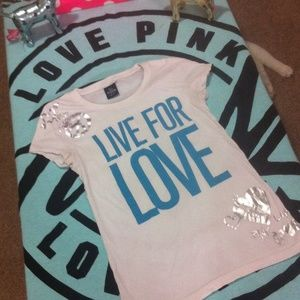 VS PINK / live for love tee