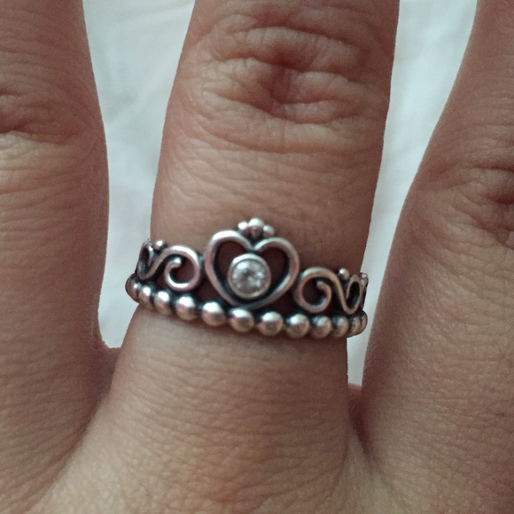 Pandora like new my princess pandora ring from linda for How much does pandora jewelry pay