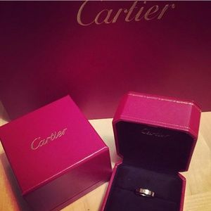 Auth CARTIER Love Ring White Gold