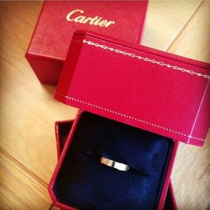 $899ⓜ Auth CARTIER Love Ring White Gold