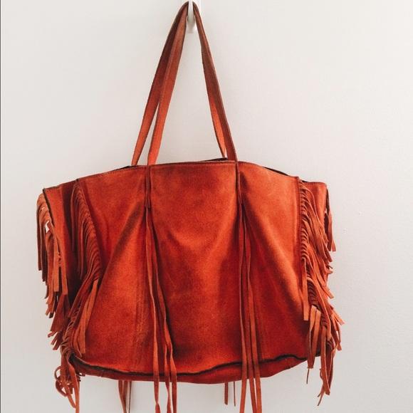 d3761e9eb5d Zara Red Suede Fringe Tote Bag. M_5572ee2b77adea5ef4001c58