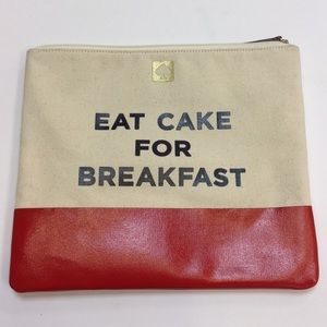 "Kate Spade ""Eat Cake for Breakfast"" clutch"