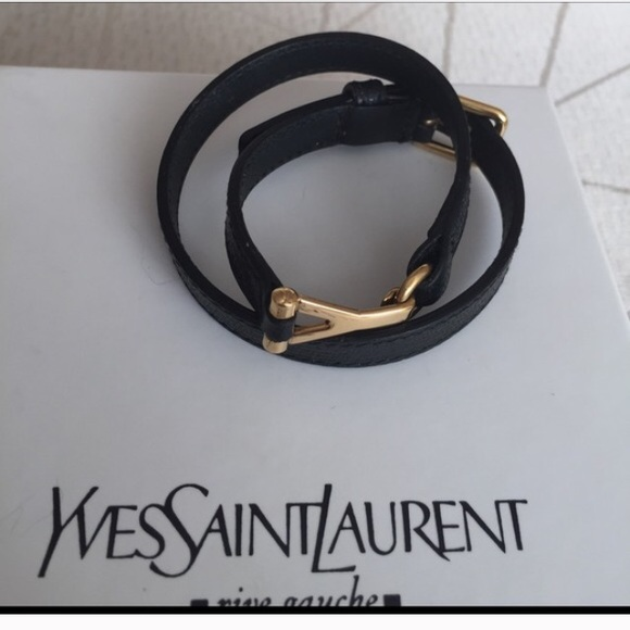 ysl man wallet - Yves Saint Laurent - Ysl double wrap bracelet from Johanna's ...
