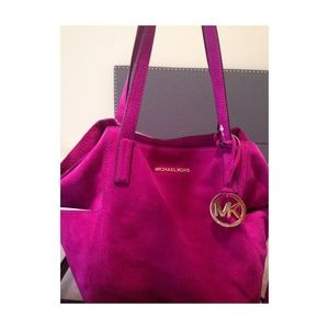 Authentic Michael Kors suede large grab bag
