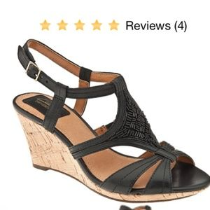 Clarks Artisan Fiddle Bridge wedges (black)