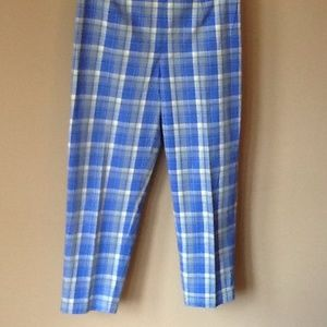 Cross Roads Stretch Pants - 1950's Inspired Classic Plaid Straight Leg Pant