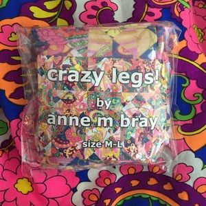 We Love Colors Accessories - Psychedelic print tights. NEW