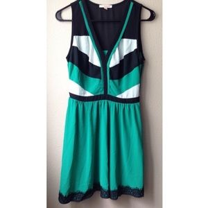 Hollywould Dresses & Skirts - Fit & Flare Green, Black, White Cocktail Dress