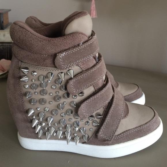 Aldo Spiked Wedge Sneakers