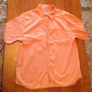 Old Navy orange button up top