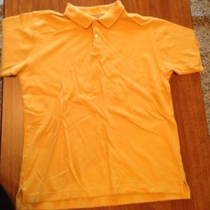 Old Navy gold yellow polo