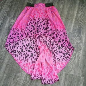 High low summer leopard print skirt