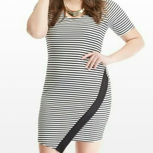 Dresses & Skirts - Striped asymmetrical dress - 1x