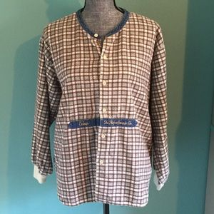 Esleep Intimates & Sleepwear - Vintage 90s Flannel Denim Pajamas Boxers medium