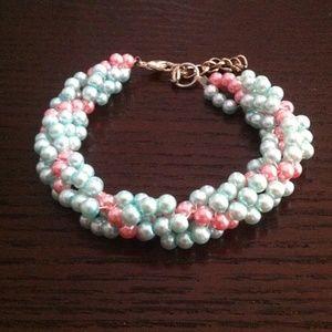 HOst Pick!! Handmade blue and pink bracelet