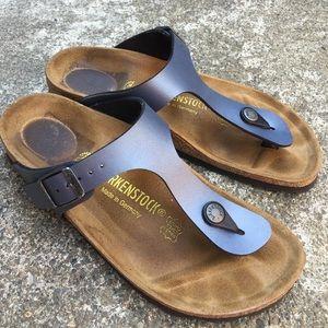 Birkenstock Shoes Gizeh Birkoflor Sandals In Onyx Poshmark