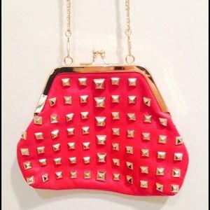 ZARA Gold studded purse