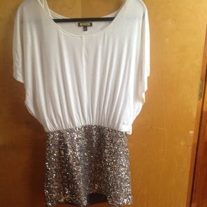 White and sequin dress🎉
