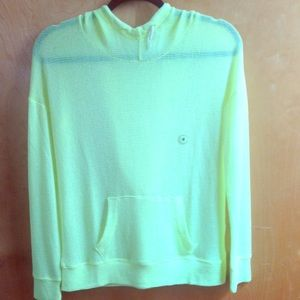 Live love dream Neon green hoodie