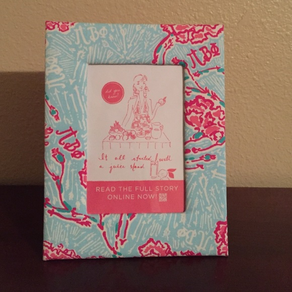 lilly pulitzer other lilly pulitzer sorority pi phi picture frame