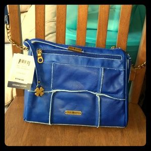 Lucky Brand Royal Blue Leather Patch Crossbody