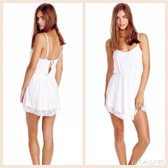 35a4008cf73 Wildfox  I do  lace chemise in wedding white