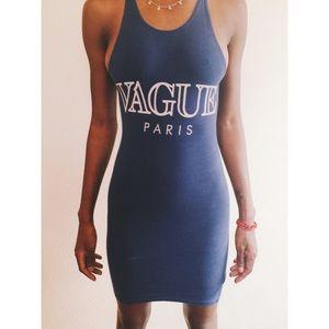"""Blue """"vague Paris"""" dress"""