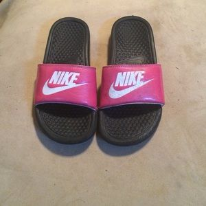 bc5915e805b9 Nike Shoes - pink nike slide sandals