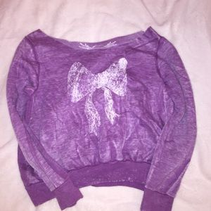 Sweaters - Now printed purple sweater