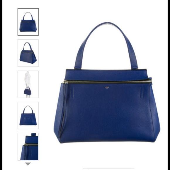 28% off Celine Handbags - Authentic Blue Celine Edge Bag from Mimi ...