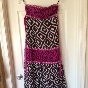 Bebe Strapless Maxi Dress