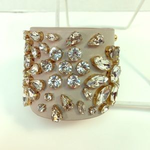 J.Crew Jewel Leather Cuff