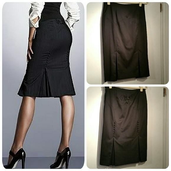 6b4e251a38 Victoria's Secret Skirts | Black Kick Pleat Pencil Skirt By Body By ...