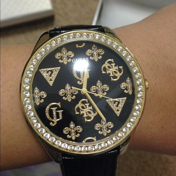 59 guess accessories guess black and gold