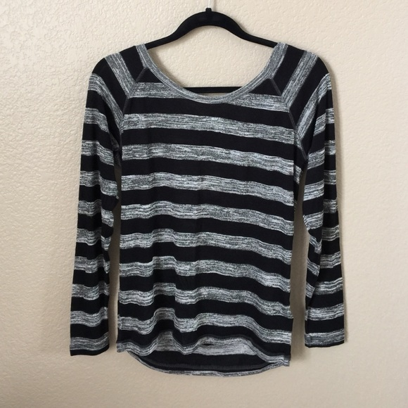Forever 21 - new • f21 black   gray striped long sleeve shirt from ...