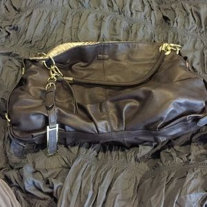 Large London Fog leather bag. Gorgeous