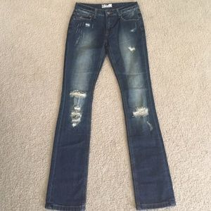 NWOT Free people destroyed jeans size 25 