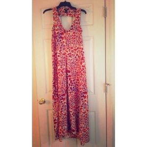 H&M leopard maxi dress