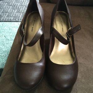 Brown Mary Jane Style Heels