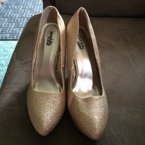 Gold Glitter Wedges