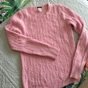NEWLY-REDUCED Pink J.Crew Cable-Knit Sweater