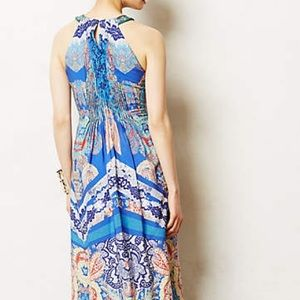 Boteh maxi dress anthropologie black