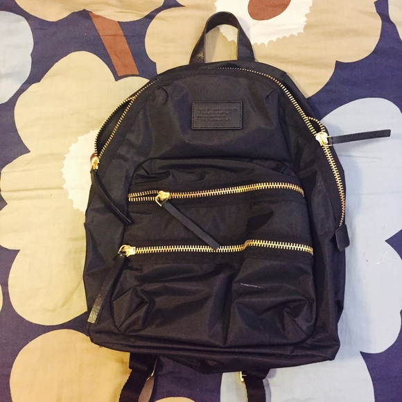 26d3b15195 Marc by Marc Jacobs Black Backpack w Gold Zipper